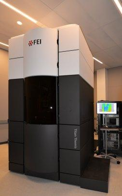 FEI Titan Cubed Themis 300 double Cs-corrected Scanning/Transmission Electron Microscope (S/TEM) in the Imaging and Analysis Center