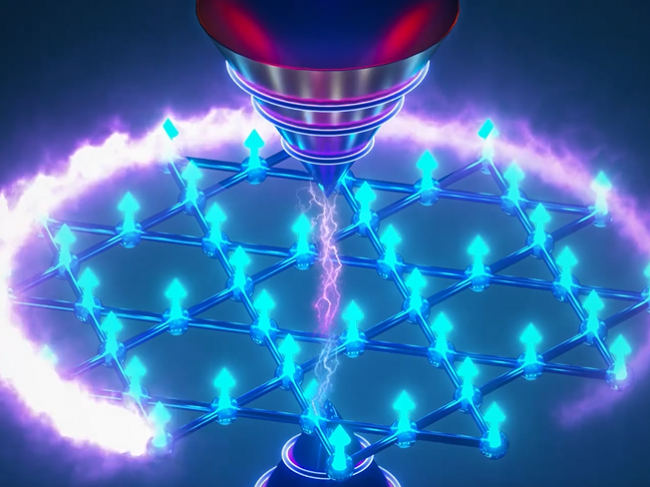 Illustration of topological magnet that exhibits quantum effects