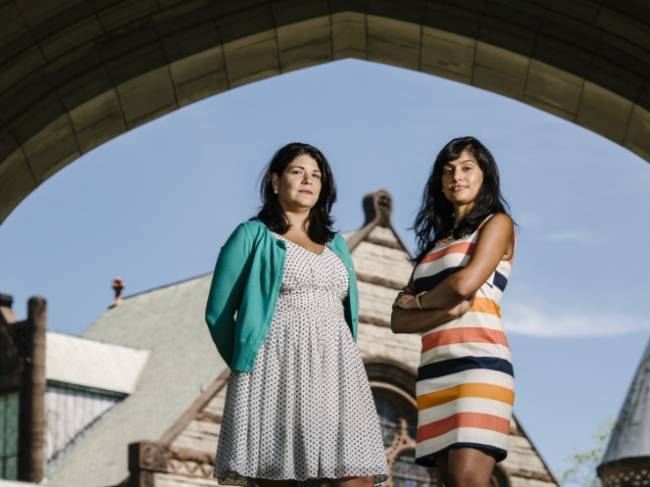 Khristina Gonzalez (left) and Nimisha Barton run Princeton's Freshman Scholars Institute, a program that seeks to provide first-generation and low-income students with the support system they might lack.