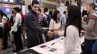 Students meet with company representatives at the annual Princeton University Science and Technology Job Fair
