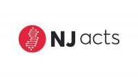 Logo for NJ Acts, DNA in the shape of New Jersey