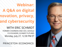 Former Google CEO Google Schmidt featured on Bendheim webinar